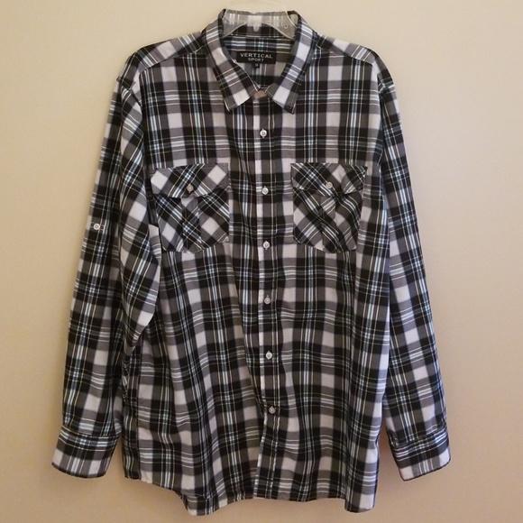 1588e48e Vertical Sport Men's Plaid Button Down Shirt. M_5c2e1849f63eeaa88c6b3c17